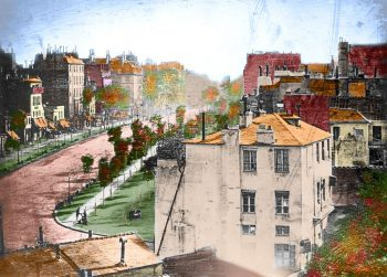 Boulevard du Temple by Daguerre colorized 350x251 Colorized Boulevard du Temple by Daguerre