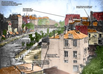 Boulevard du Temple by Daguerre modified 350x251 Colorized Boulevard du Temple by Daguerre