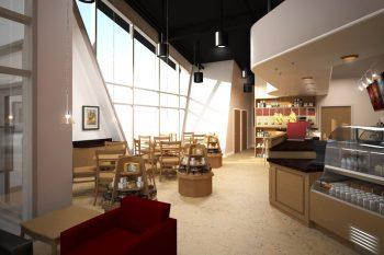 Coffeeshop Rendering by Lunarstudio