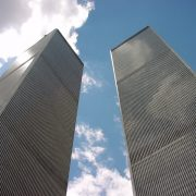 The Twin Towers of September 11th, 2001.